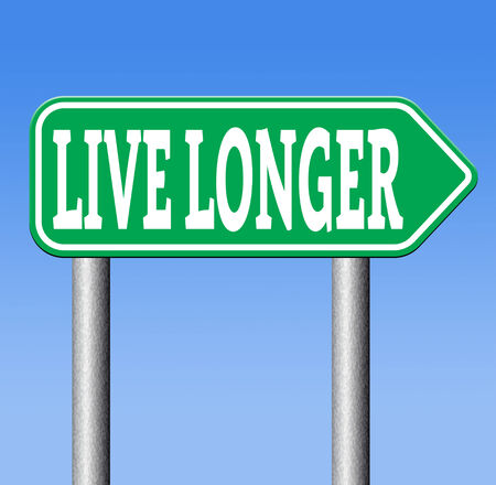 better living: ive a long healthy life. Living longer by a stressfree relaxed lifestyle and good food Stock Photo