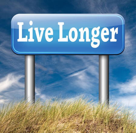 longer: live long healthy live stress free livestyle Stock Photo