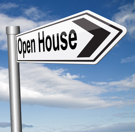 buying real estate: Open house selling or buying real estate property visit model house before you buy or rent