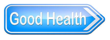 good health: goede gezondheid, gezonde levensstijl en voeding Stockfoto