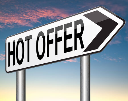 bargain for: hot offer  for online internet web shop concept. Webshop shopping sales  announcing bargain for low and best price with the best value for you money.