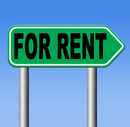 apartment or house for rent banner, renting a room or flat or other real estate sign. Home to let  photo
