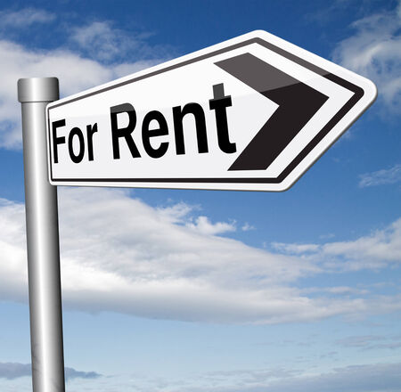 room to let: house for rent sign, renting a flat, room apartment or other real estate sign. Home to let Stock Photo