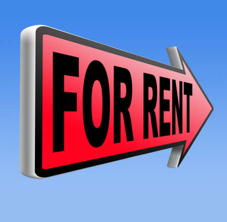 for rent sign: For rent sign, renting a house apartment or other real estate sign. Home to let