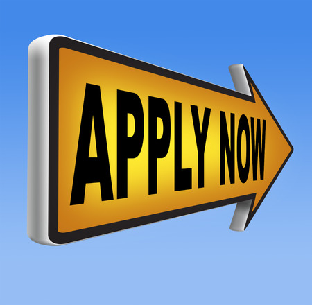 job application: Apply now and subscribe here for membership. Fill in job application form. Admission road sign.