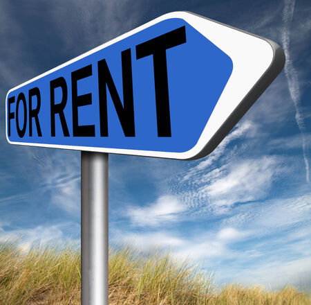 room to let: For rent sign, renting a house apartment or other real estate banner. Home room or flat to let