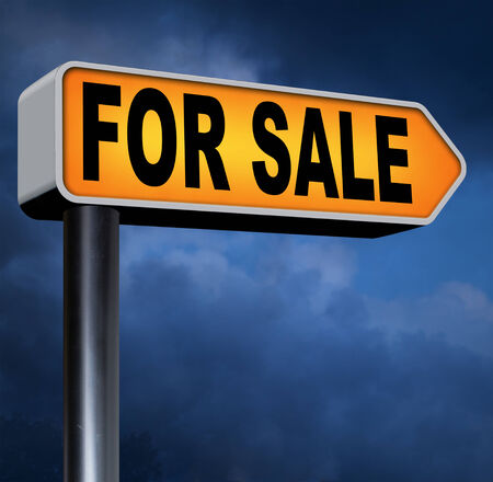 house for sale or selling car or online internet webshop sales, buy here and now photo