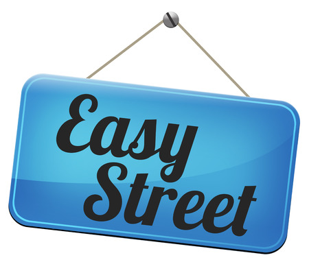 easy street indicating easy solutions or a way to avoid problems safe way no taking risk comfortable comfort zone secure route safe way  photo