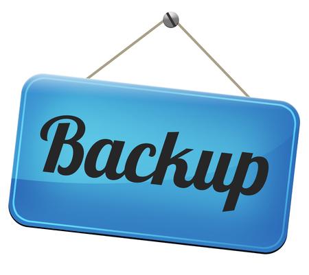 dat: Backup dei dati e software su copia nel cloud su un disco hard disk su un computer o un server per la sicurezza di file