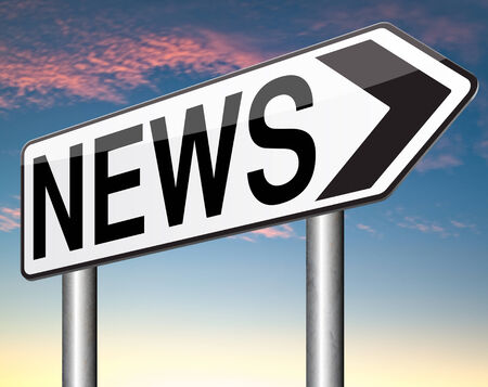 news flash: daily news hot from press breaking latest article papers Stock Photo