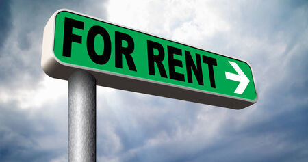 For rent road sign renting a house apartment or other real estate sign. Home to let  photo