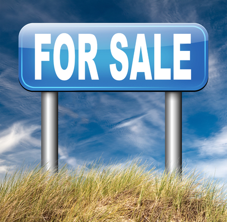 For sale banner, selling a house apartment or other real estate sign buy or sell online on internet your car or other product photo