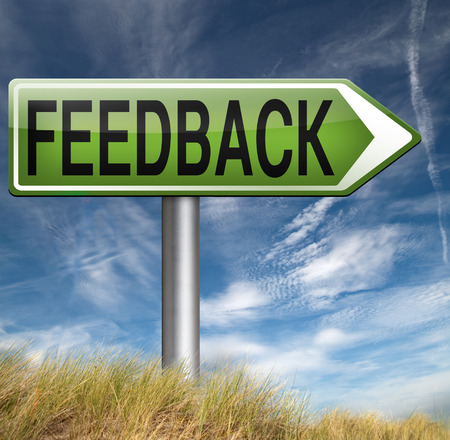 feedback and comments testimonials to survey customer and user satisfaction photo