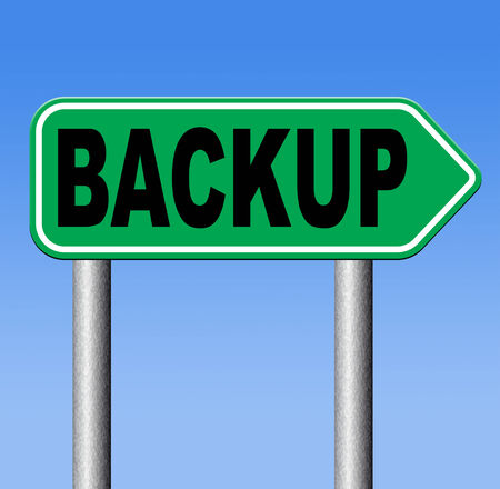 data archiving: Backup data and software on copy in the cloud on a harddrive disk on a computer or server for file security. Copying document for safe storage.