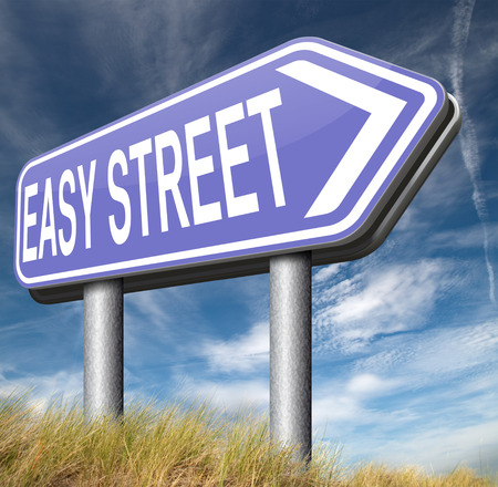 easy street road risk free sign arrow photo