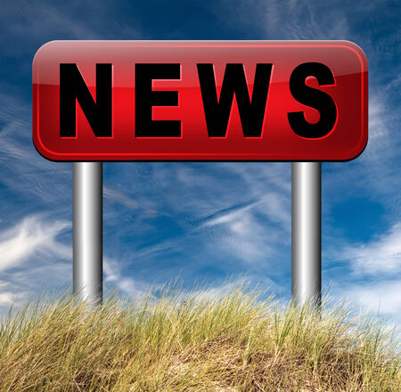actuality: press release breaking and hot news items Stock Photo