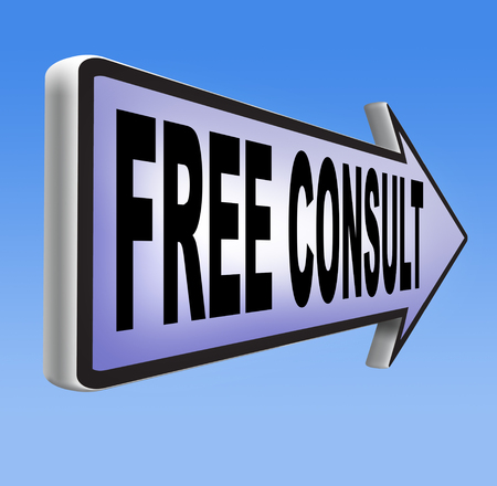 service desk: free consult icon help desk and customer support. Gratis custom consultation service and advice.  Stock Photo