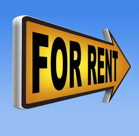 to let: For rent sign, renting a house apartment or other real estate sign. Home to let