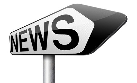 fresh news: latest news article hot and daily breaking news items fresh from press Stock Photo