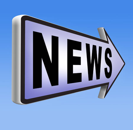 actuality: latest news article hot and daily breaking news items fresh from press Stock Photo