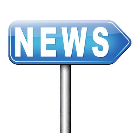 an article: breaking news latest press article online internet papers Stock Photo