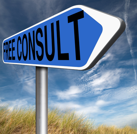optimal: free consult road sign or help and information desk icon optimal customer support Gratis consultation service and advice.  Stock Photo