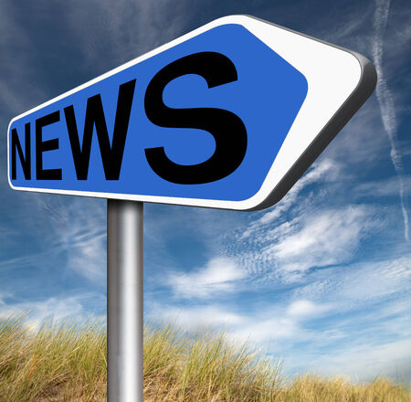news flash: breaking news latest press article online internet papers Stock Photo