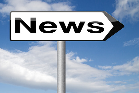 actuality: breaking news latest press article online internet papers Stock Photo