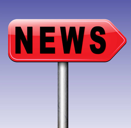 actuality: daily online news on internet breaking and hot newspaper Stock Photo