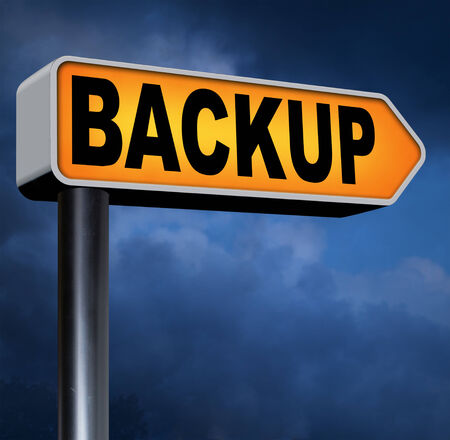 Backup data and software on copy in the cloud on a harddrive disk on a computer or server for file security. Extra copies to restore lost data from crashed disks. photo
