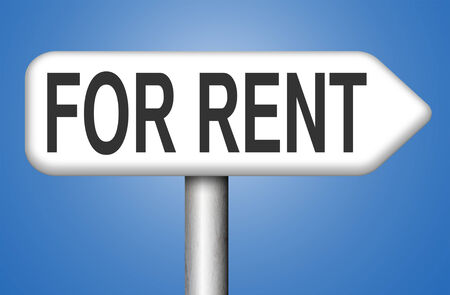 for rent sign: For rent sign, renting a house apartment or other real estate to let label. Home flat or room to let