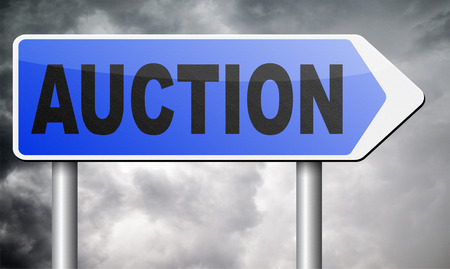 bidding: Online auction bidding. Buy or sell on the internet.  Stock Photo
