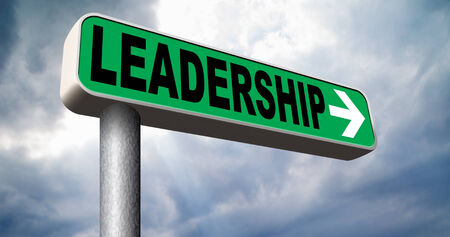 team leader natural leadership in business leading in the market road sign arrow photo