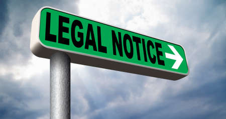 legal notice with terms and conditions for use  photo
