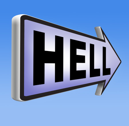 sinner: welcome to hell evil sinner go to the devil disaster