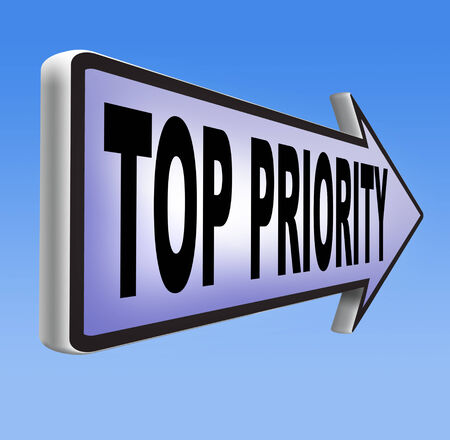 importance: top priority important very high urgency info lost importance crucial information  act now or never  Stock Photo