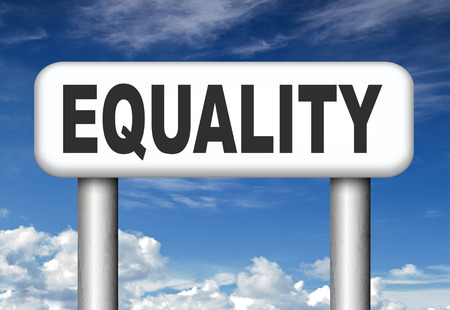 equal rights: equality no difference equal rights and opportunities no discrimination
