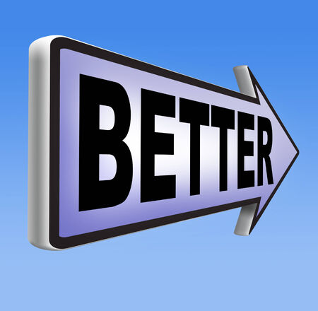 better price: better improvement of skills or product quality Stock Photo
