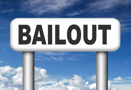 rescate o crisis económica y la recesión quiebra financiera