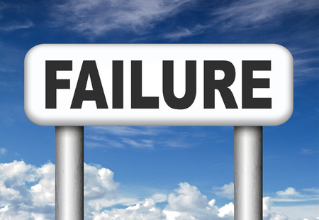disappointment: big failure ends in disaster fail exam test or other attempt failing examination is a disappointment  Stock Photo
