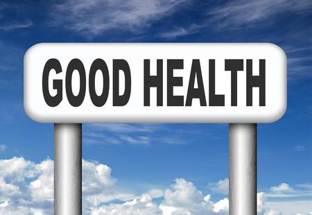 good health: goede gezondheid, gezonde, actieve levensstijl en biologisch voedsel