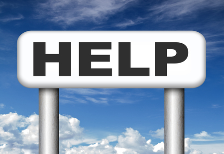 find us: search and find help and support we need you to assist us give a hlping hand Stock Photo