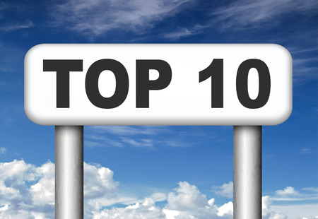 ten best: top 10 charts list pop poll result  and award winners chart ranking music hits best top ten quality rating prize winner