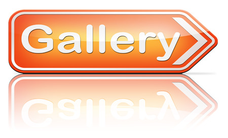 artictic: gallery wall of picture photo and image and art exhibition  Stock Photo