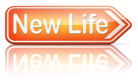 begin: new life road to fresh begin new start sign