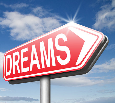 accomplish: dreams realize and make your dream come true be successful and accomplish your goals  or  with text and word concept