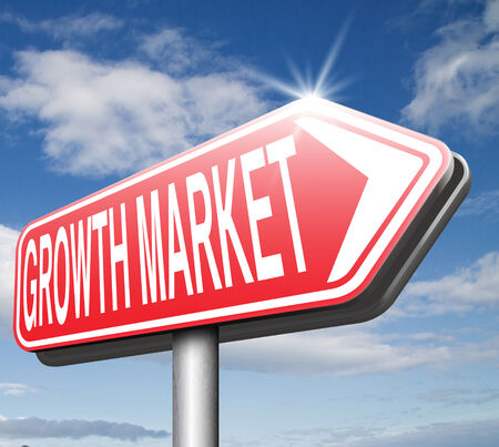 emerging market: growth market economy growing emerging economies in developing countries