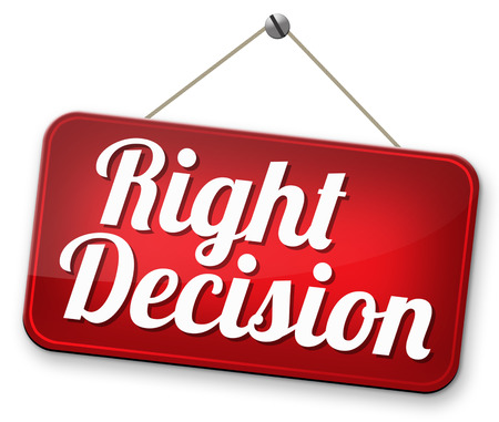right decision important wise choice choose the correct way to go photo