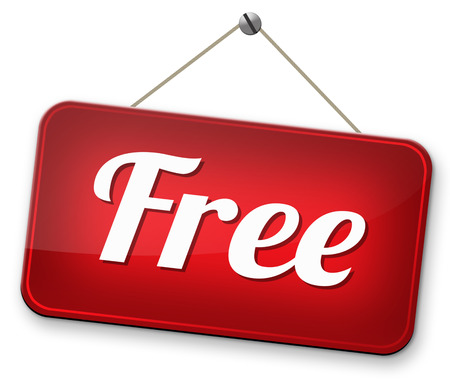 free trial no charge gratis product sample Banco de Imagens