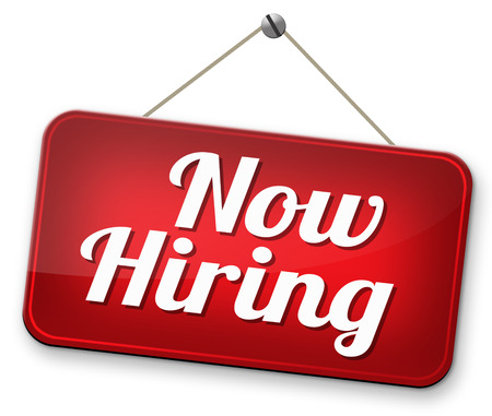 hiring now new employer job opening or offer search for jobs vacancy help wanted Stock Photo